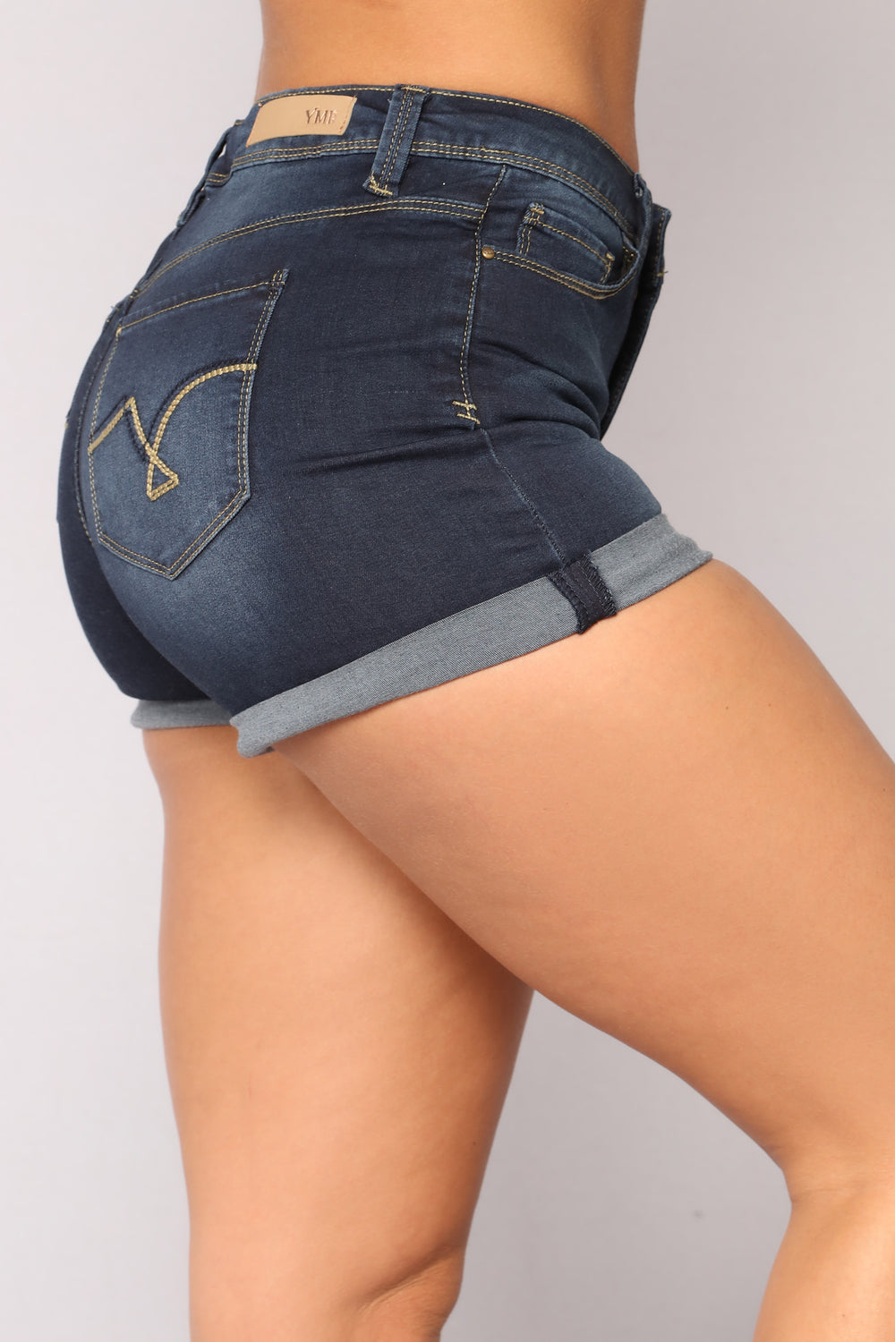 Someone Else's Arms Denim Shorts - Dark Denim