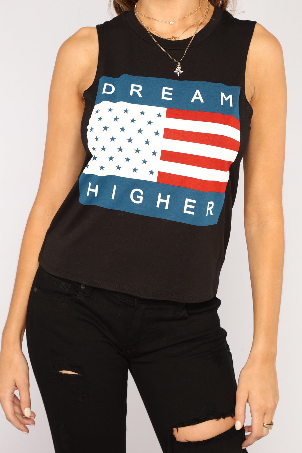 A Girl With Big Dreams Tee - Black