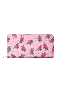 Watermelon Party Wallet - Pink Multi