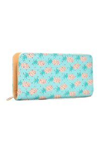 Pineapple Paradise Wallet - Blue Multi