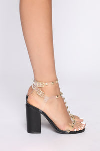 Don't Know Why Heeled Sandals - Black