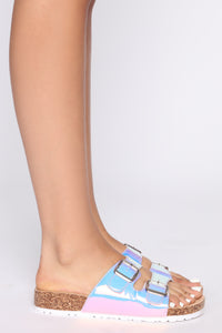 In The Meantime Flat Sandal - Hologram