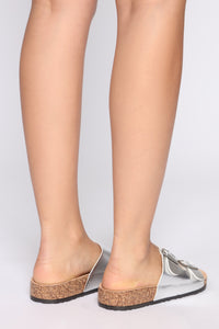 In The Meantime Flat Sandal - Silver