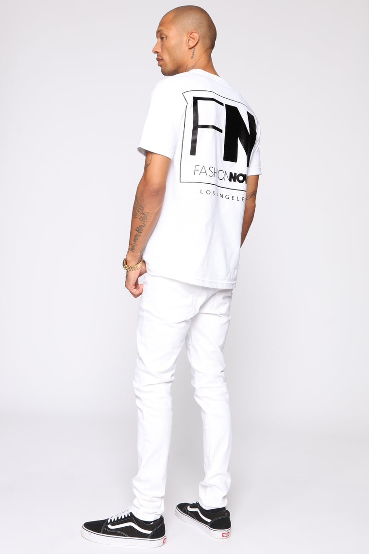 FN Short Sleeve Tee - White/Black