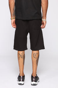 FN Logo Sweat Shorts - Black