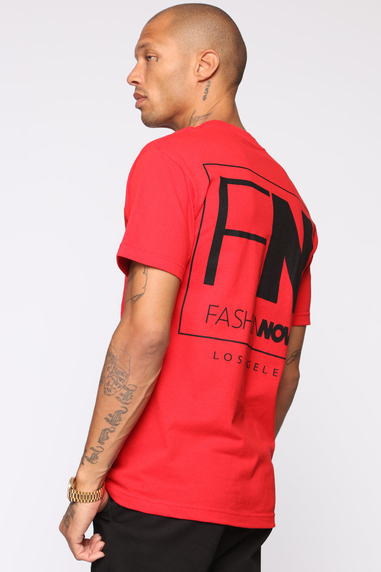 FN Short Sleeve Tee - Red/Black