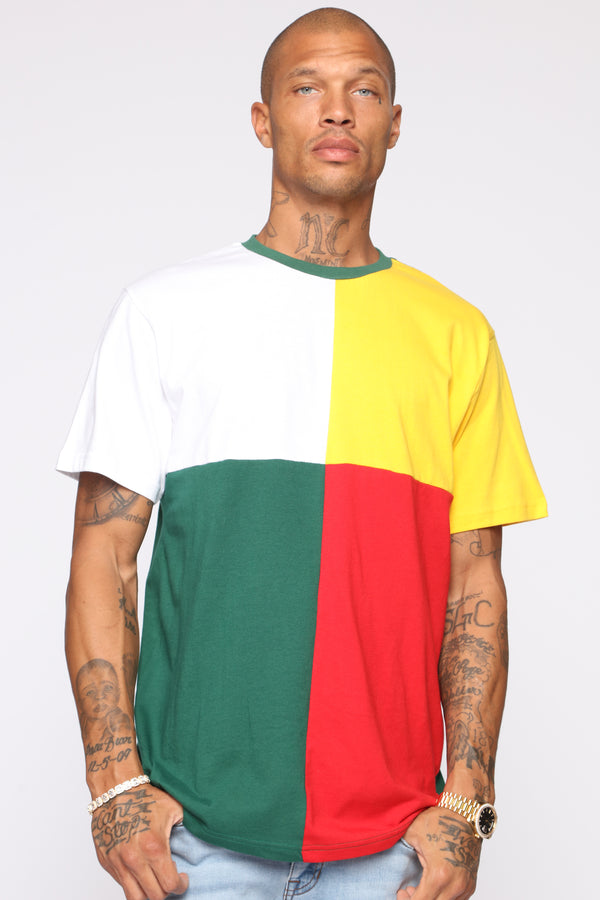 553fcc06f95 Dax Color Block Crew Neck Tee - Multi