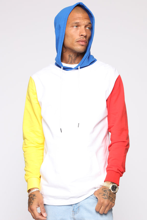 bb28199d8d15 Trenton Color Blocked Hoodie - White Multi