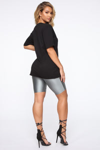 Drippin' In Diamonds Tunic Top - Black