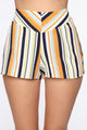 Kiara High Rise Print Shorts - Ivory/Multi