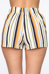 Kiara High Rise Print Shorts - Ivory/Multi Angle 5