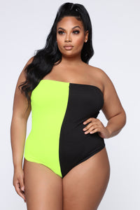 Ride With You Bodysuit - NeonYellow