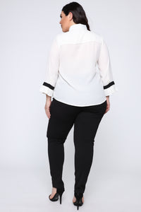 Always Busy Top - Ivory