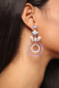 Try Acrylic Earrings - Purple