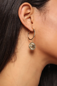 Evil Eye Mini Hoop Earrings - Gold