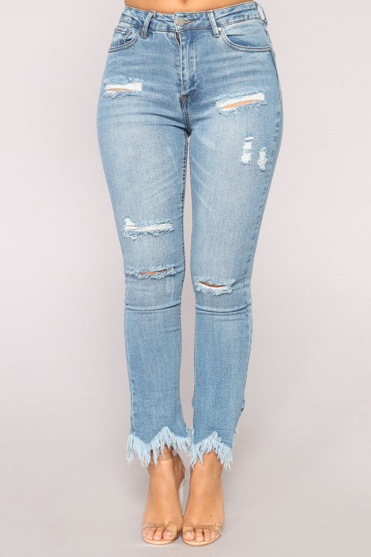 Fringe Affair Flare Jeans - Medium Blue Wash