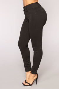 Natalie Ponte Leggings - Black