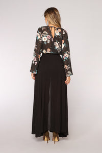 Marcellina Floral Top - Black/Combo