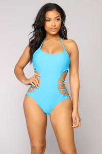 Caught By The Waves Swimsuit - Blue