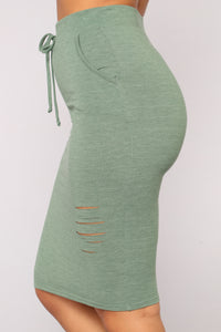 Casual Lover Skirt - Dark Green Angle 4
