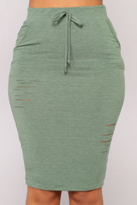 Casual Lover Skirt - Dark Green Angle 2