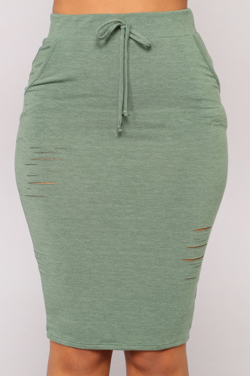 Casual Lover Skirt - Dark Green
