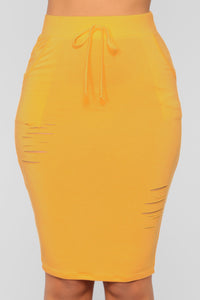 Casual Lover Skirt - Yellow Angle 1