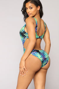Pyschedelic Summer Swimsuit - Blue Combo