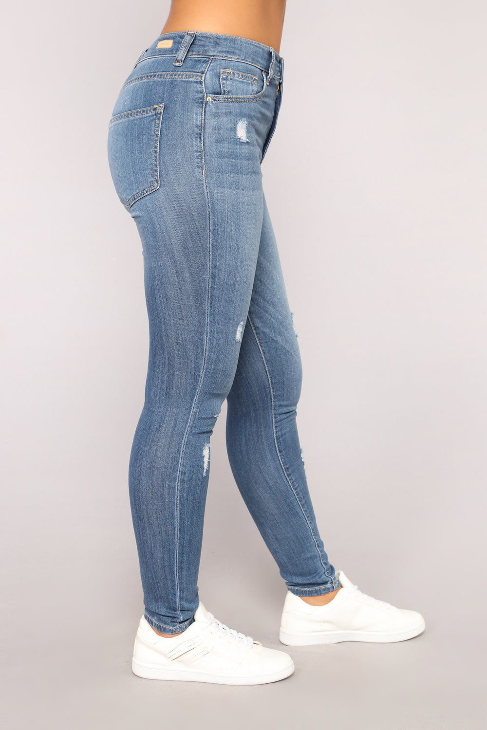 One Step Up Skinny Jeans - Medium Blue Wash