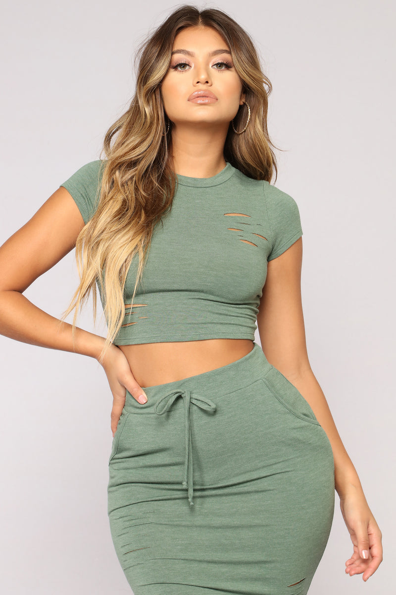 Casual Lover Top - Dark Green