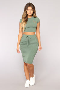 Casual Lover Skirt - Dark Green Angle 1