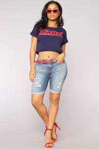 Your Nova Babe Crop Top - Navy