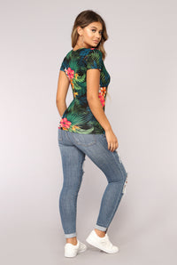 Pacific Paradise Top - Black/Multi