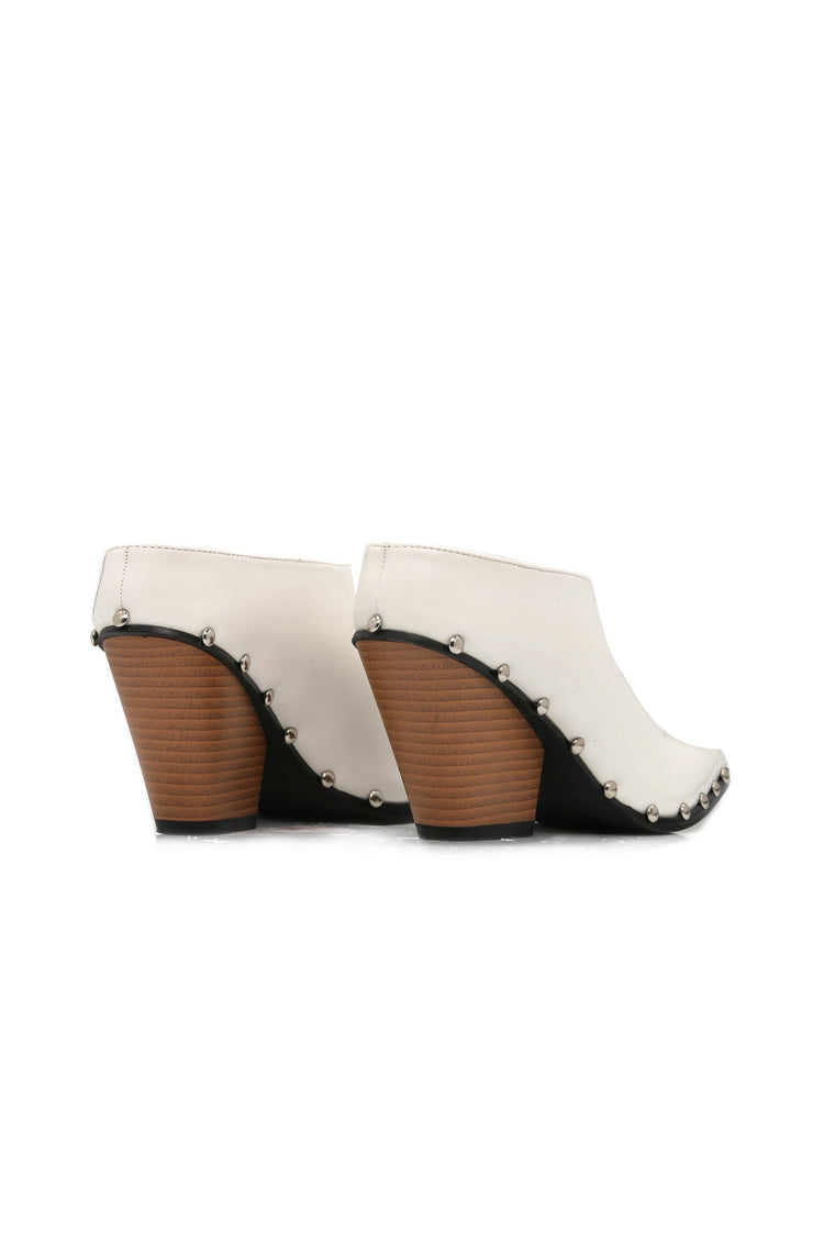Treat You Right Slide Bootie -White