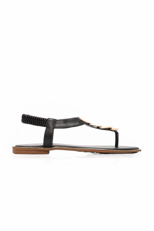 All Gold Sandal - Black