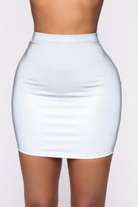Can't Hide Reflective Skirt Set - Silver Angle 11