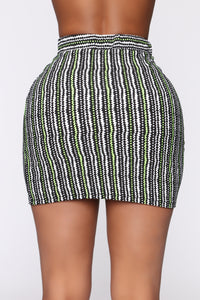 Nori Print Mini Skirt - Black/Multi