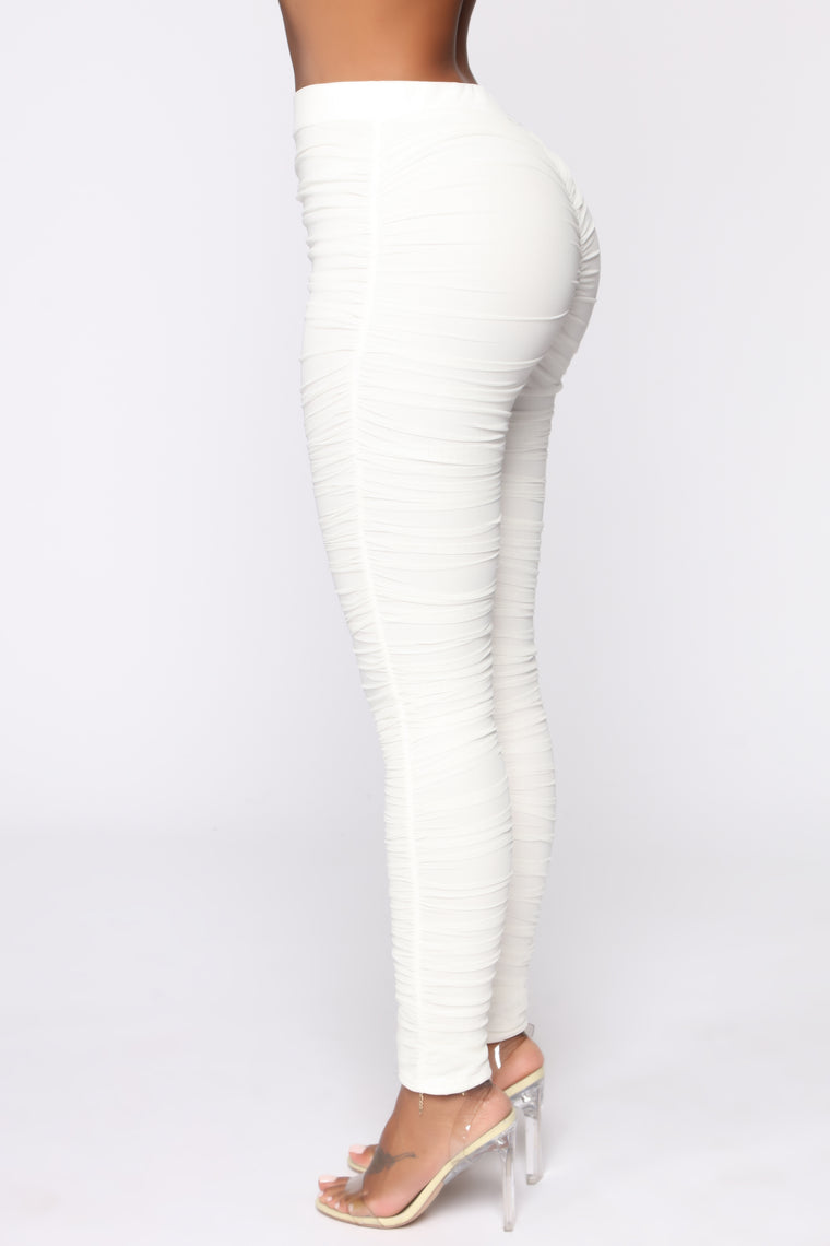 First Impression Ruched Leggings - White