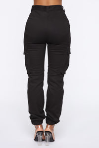 Belt It Out Cargo Joggers - Black