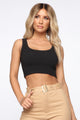 Wifey Crop Top - Black