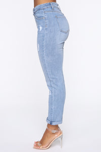 Lexi High Rise Ankle Jeans - Medium Blue Wash