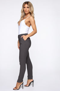 Love At First Sight Pants - Charcoal
