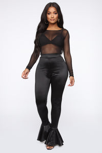 Dance Into Your Heart Flare Pants - Black Angle 2