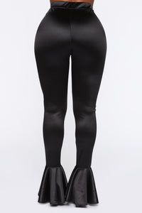 Dance Into Your Heart Flare Pants - Black Angle 6