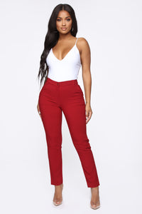 Love At First Sight Pants - Burgundy