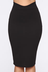 Flare Game Midi Skirt - Black
