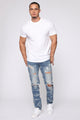 Shredder Skinny Jeans - Medium Wash