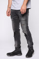 Road Rash Moto Jeans - Grey