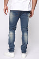 Road Rash Moto Jeans - Medium Wash