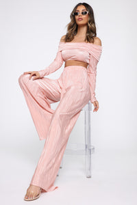 A Compleat Fit Pant Set - Blush Angle 1